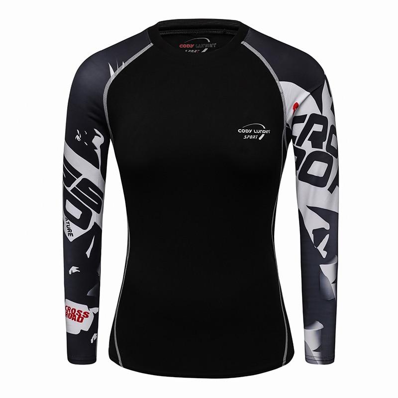 La mejor Camiseta ajustada UFC BJJ MMA con estampado 3D de manga larga para chicas, sudaderas para mujeres, camisetas de compresión casuales de moda para Fitness, camisetas de gimnasio