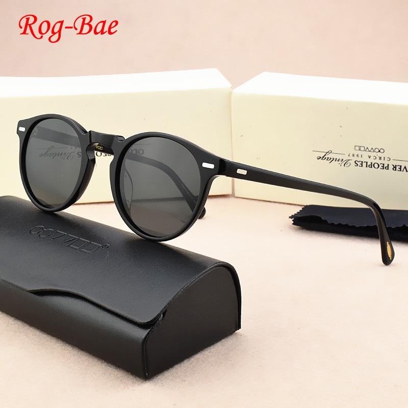 OV5186-نظارات شمسية ريترو مستقطبة للرجال والنساء ، نظارات شمسية عتيقة مستديرة ، علامة تجارية جديدة