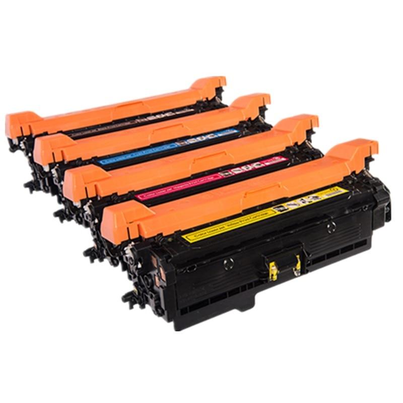 Compatível HP 504A CE250A CE251A CE252A CE253A Cartucho de Toner para Color LaserJet CP3520 CP3525 CP3525n CP3525dn CP3525x CM3530