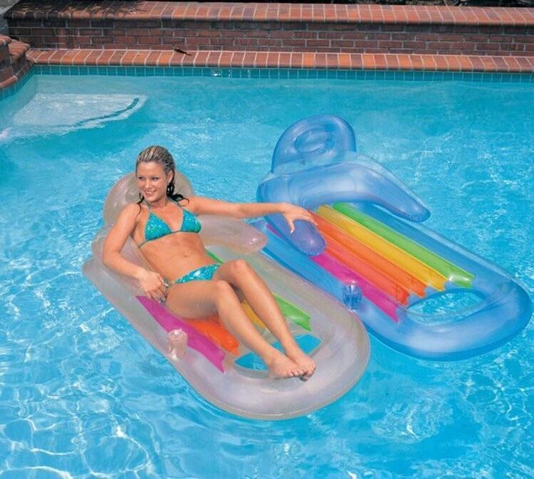 2016 High Quality Brand New  Outdoor swimming water inflatable mattress 160*85cm swim pool air mattress bearing
