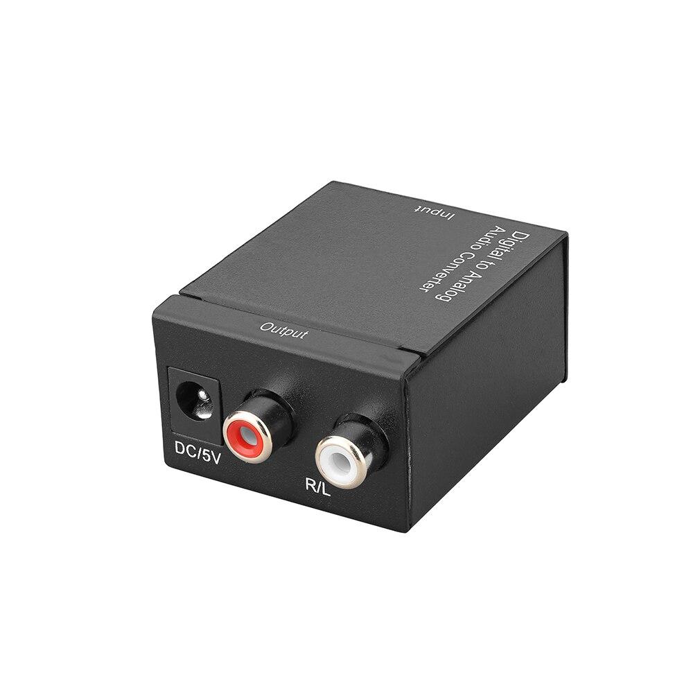Analog Zu Digital Audio Adapter Analog Stereo Zu Digital Optical Coax-48 kHz Abtastrate-S /PDIF & TOSLink