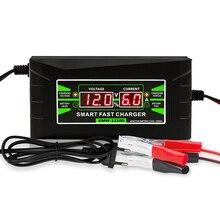 Entièrement Automatique Chargeur De Batterie De Voiture 90V À 260V À 12V 6A Rapide Intelligent De Charge Dalimentation Humide Sèche Au Plomb Numérique LCD