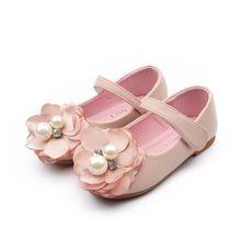 Baby Girl Dress Shoes Children Princess Sandals Kids Girls Wedding Shoes Spring Summer Flower Leather Shoes Beige Pink TX346