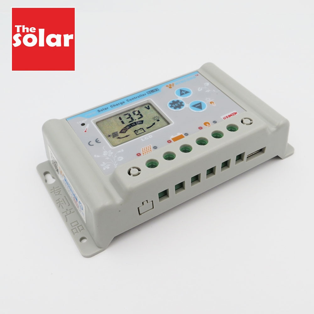 Regulador de controladores de carga Solar ajustable 30A 10A LCD batería LI-ION NI-MH LiFePO4 44,4 V 21,2 V 48 V 60 V