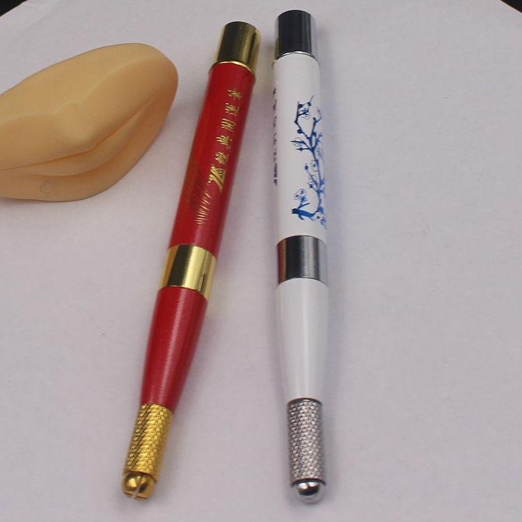 JiDragon Lucky Pen With Flower China Style Microblading Curved Flat Needle Heavy Popular At Russia Free Shipping 5 Piece