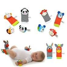 Bébé jouet bébé hochets jouets animaux chaussettes dragonne avec hochet pour enfant garçon fille bébé pied chaussettes Bug dragonne bébé chaussettes