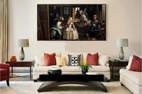 giant poster classical portrait canvas painting picture from velazquez diego rodriguez the family of felipe iv or las meninas