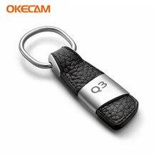 Porte-clés emblème de voiture   Pour Audi Q3 8U RS Quattro Q3 Badge demblème, porte-clés chaîne de clé de voiture, accessoires automobiles, style de voiture