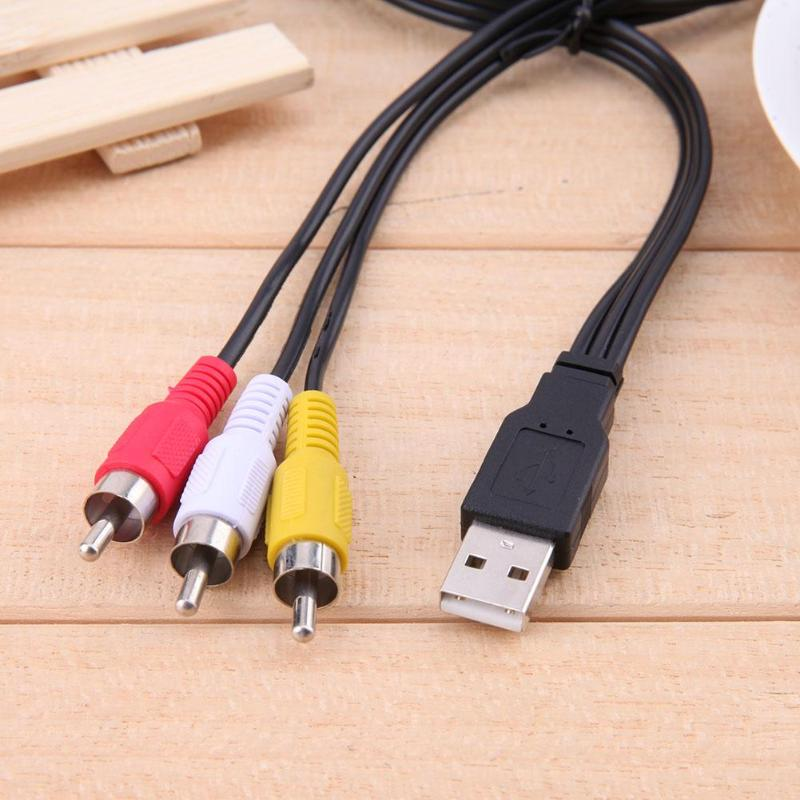 Cable USB 1,5 a 3 RCA macho a macho, adaptador de Audio...