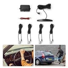Sensores de aparcamiento para coche con pantalla LED, 4 radares, Parkmaster Jalousie, Detector de coche Parktronic, alarma de seguridad negra y plateada