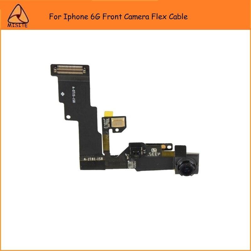10 unids/lote probado teléfono cámara frontal Flex para iPhone 6 6G 4,7 proximidad frontal pequeña cámara lente Luz sensor Flex Cable