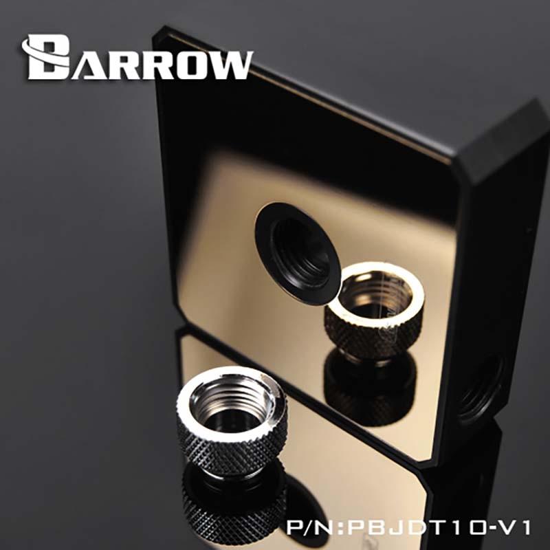 Barrow PBJDT10-V1 cubierta de la bomba del espejo, para los accesorios de modificación de la bomba de agua DDC, negro/Blanco/oro para la construcción del refrigerador de agua