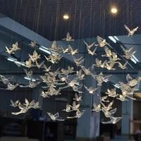 12 pcs high quality european hanging crystal acrylic bird hummingbird ceiling antenna home wedding stage decoration ornaments