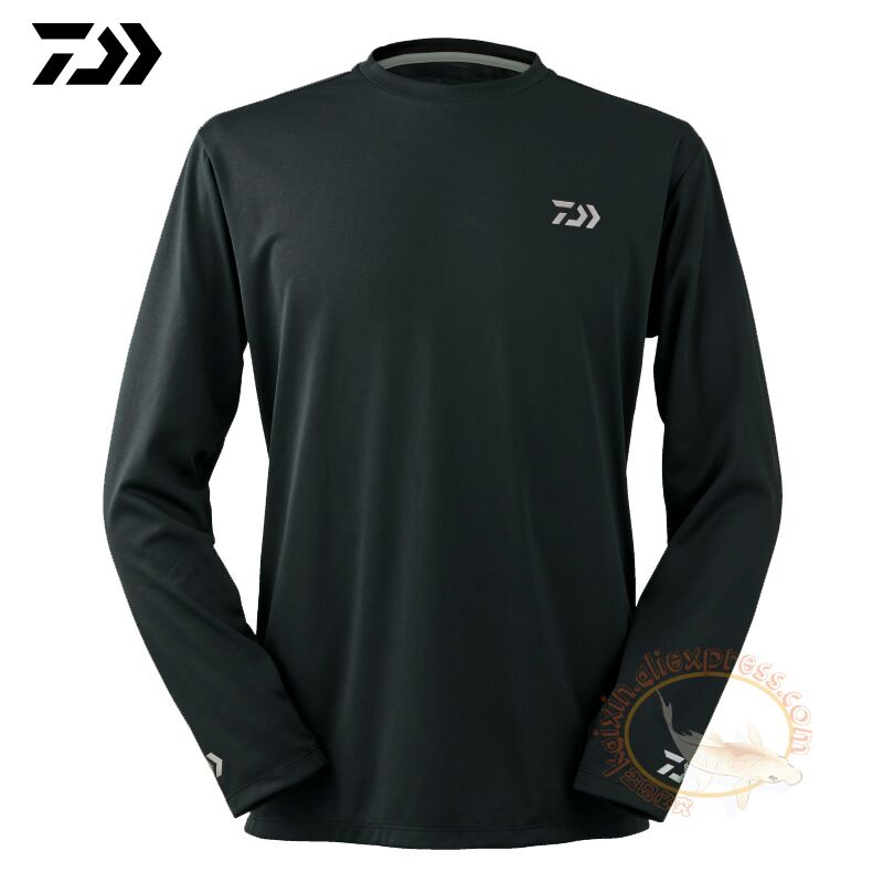 2019 Daiwa ropa de pesca de manga larga XS-5XL camisetas de pesca de verano de secado rápido transpirable Anti-UV camiseta de protección solar