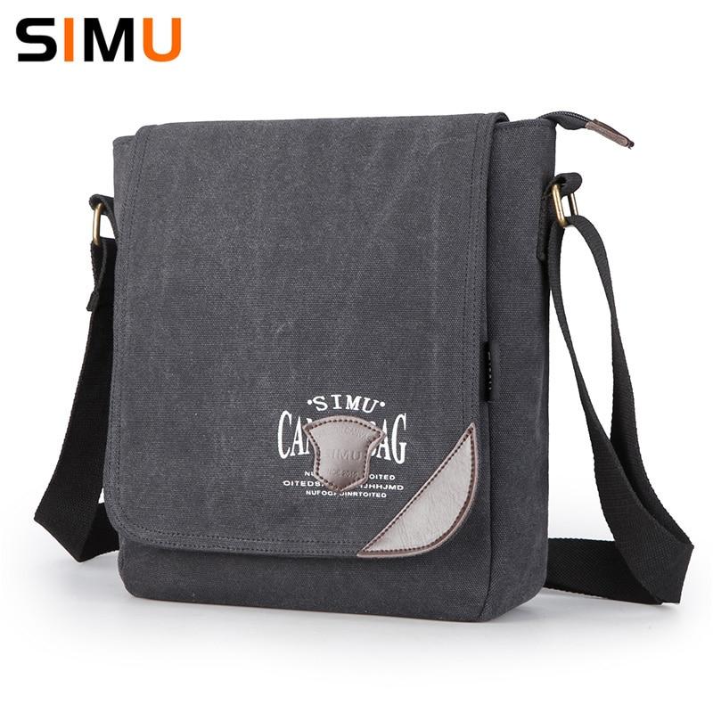 Simu Canvas Man Bag Famous Designer Vintage Male Single Shoulder Bag Messenger Bags School Crossbody Bag 2017 25*9*30cm