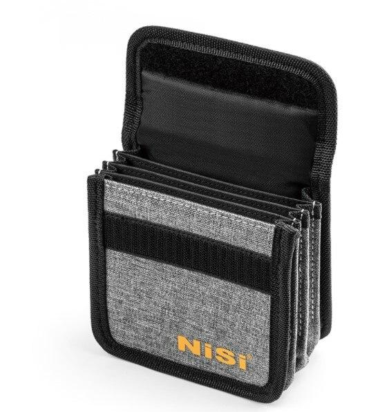 4 جيوب جولة عدسة تصفية تخزين حالة حقيبة غطاء مربع ل 25 مللي متر إلى 95 مللي متر إلى الأشعة فوق البنفسجية CPL ND كاميرا تصفية يمكن تركيبها على ترايبو...