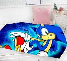 Christmas Gift Sonic The Hedgehog 95 x 55 CM Mini Single-layer Flannel Fabric Baby Blanket #37383