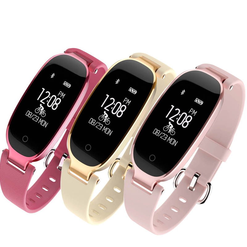 Pulsómetro Reloj Del Ritmo Cardíaco Monitor de Fitness Mujeres de la Pulsera Pulsera Inteligente Inteligente Banda Muñequera Podómetro Contador de Pasos Para xiomi