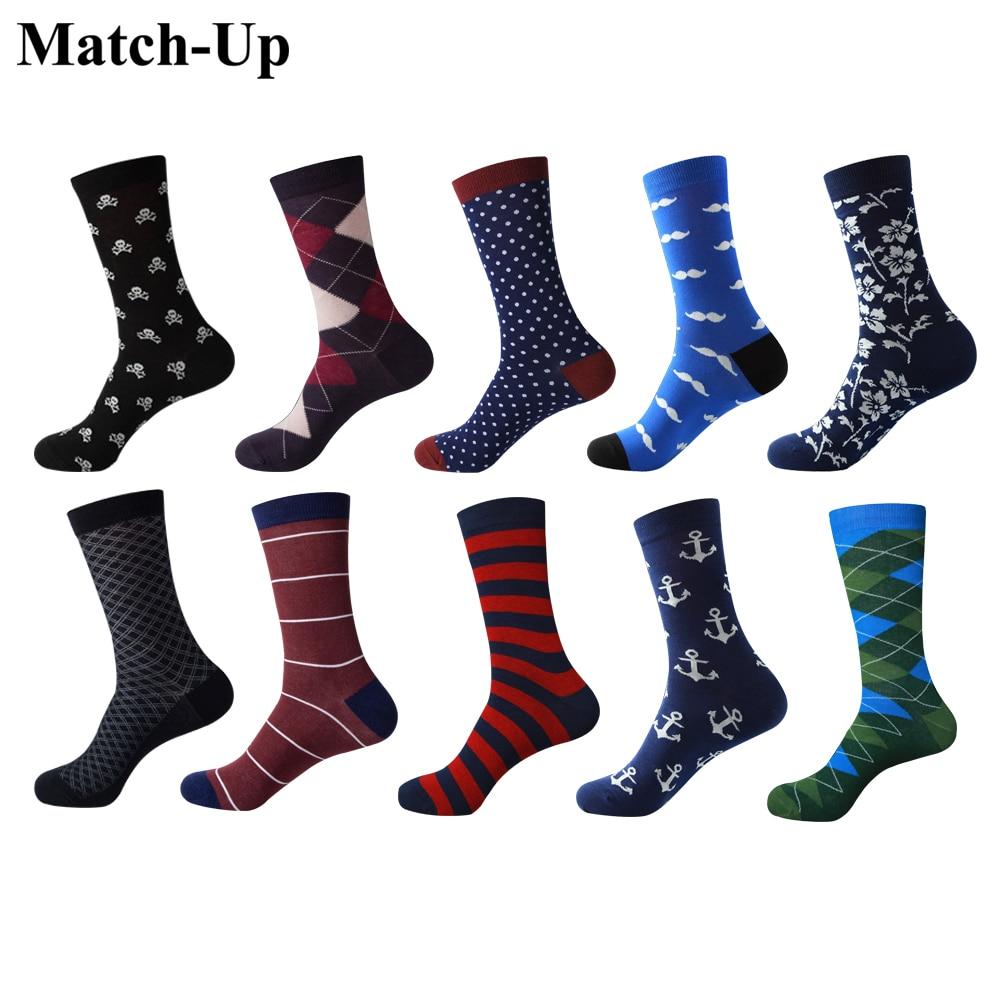 Match-Up Men's colorful Combed cotton socks  Men  Socks сабвуфер match mercedes up w8mb s4