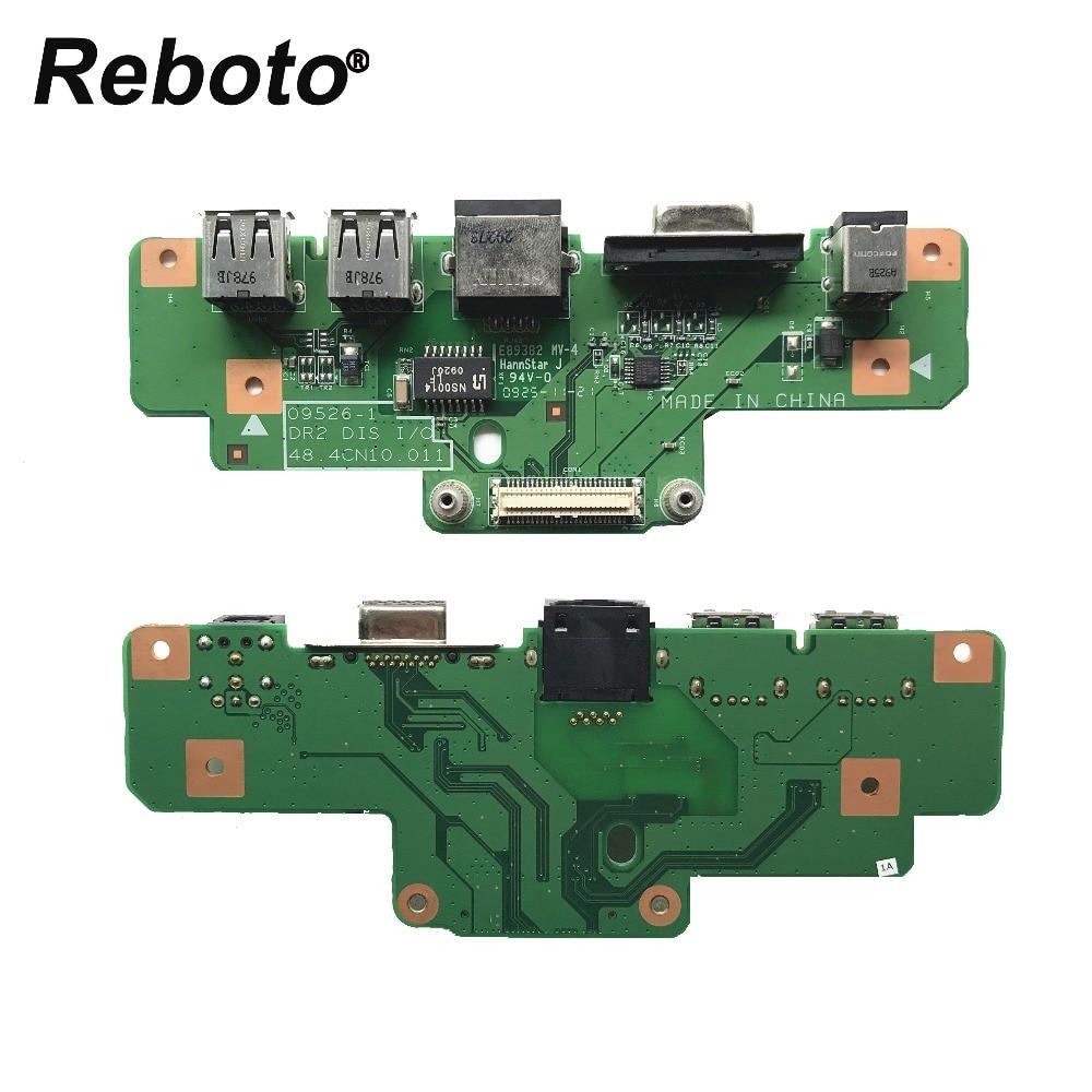 Reboto Original For Dell Inspiron 1750 Laptop DC Jack Power USB Board 09526-1 DR2 I/O BD 48.4CN10.011 100% Tested Fast Ship