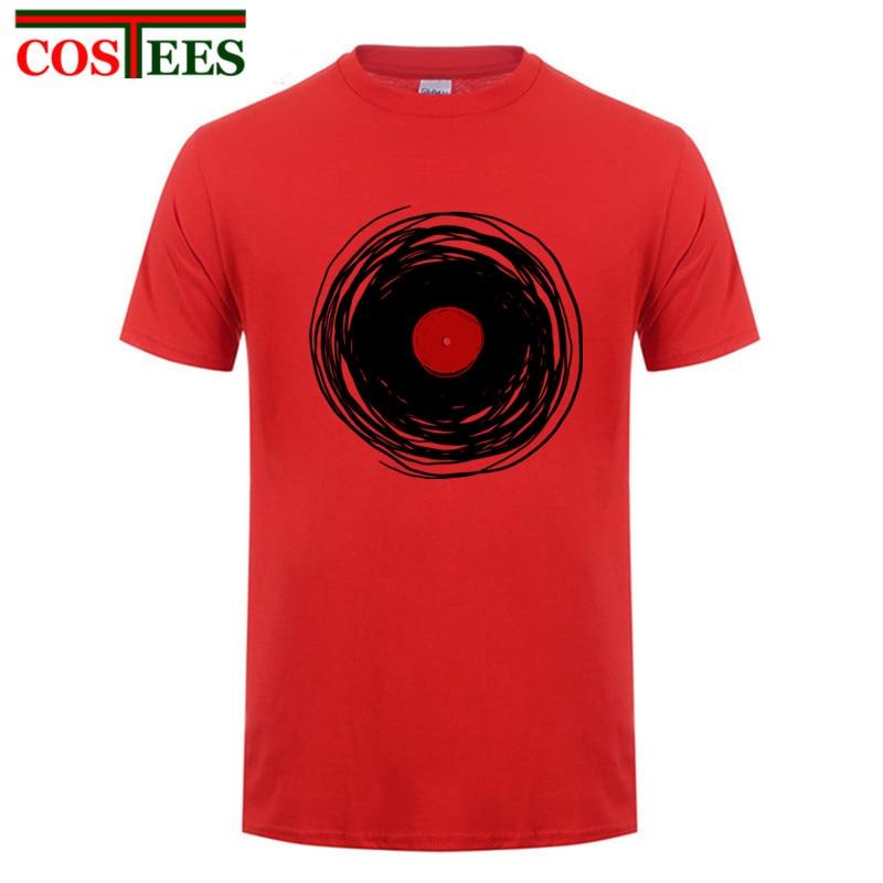 Unique T-shirt Men Spinning With A Vinyl Record Retro Music DJ Man t shirts Cheap Sale Tee Shirt paisley style steampunk tshirts