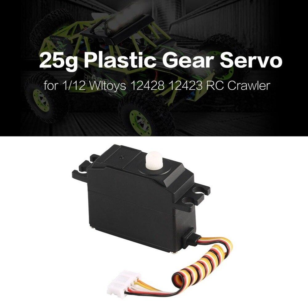 Wltoys Servo Teile Verbesserte 25g Metall Getriebe Servo für Wltoys 12428 12423 RC Wüste Lkw Short Course Auto hallo