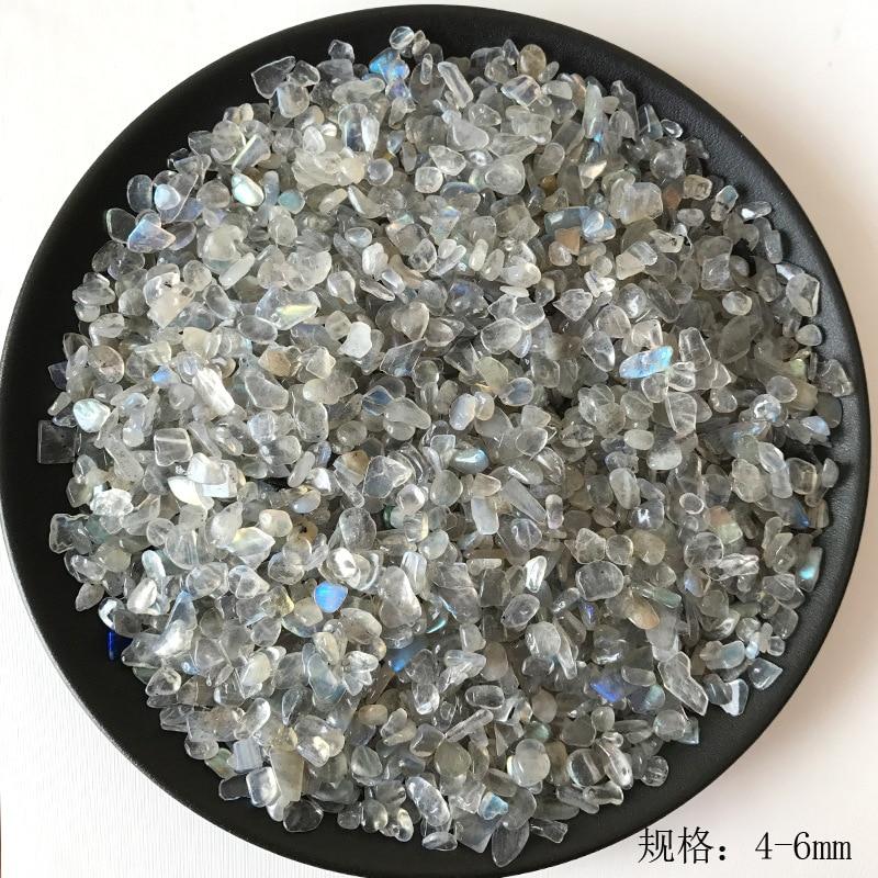 50g 3 tamaño Natural de cristal gris de piedra lunar labradorita grava Rock cuarzo crudo piedras naturales y minerales