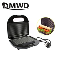 DMWD électrique Mini Machine à Sandwich gril Panini poêle antiadhésive gaufre grille-pain gâteau petit déjeuner Machine Barbecue Steak friture four ue