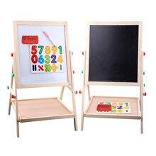 65cm enfant double face en bois tableau noir magnétique tableau blanc enfants grande écriture et planche à dessin jouets avec gomme craie marqueur