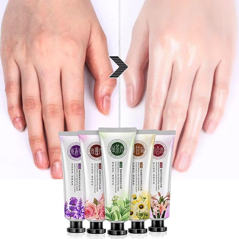 SENANA ácido hialurónico crema humectante para manos 100% plantas esencia crema de manos nutritiva Anti rozaduras de Control de aceite de cuidado de la mano 30g