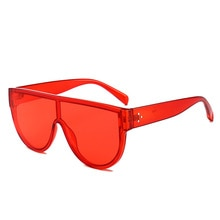 Fashion Square Sunglasses Men and women Brand Design Personality Transparent Flat Top Frame Vintage