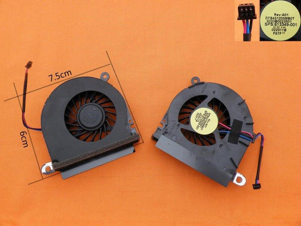 Nuevo Ventilador de refrigeración para portátil para HP 6440B 6445B 6545B Original P/N DFB451205MB0T 6033B0022601 613349-001 CPU ventilador de enfriamiento