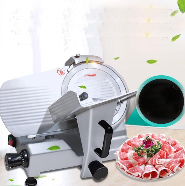 Máquina cortadora de carne congelada eléctrica semiautomática comercial 18, máquina cortadora de cordero, ternera, cerdo PICADORA DE CARNE Cordero congelado