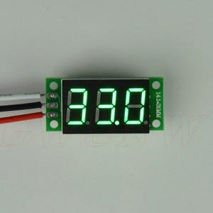 GWUNW BY336V DC 0-30.0V (30V) 3 bit 0.36inch digital voltmeter  Panel Meter  red blue green yellow Voltage Tester Meter