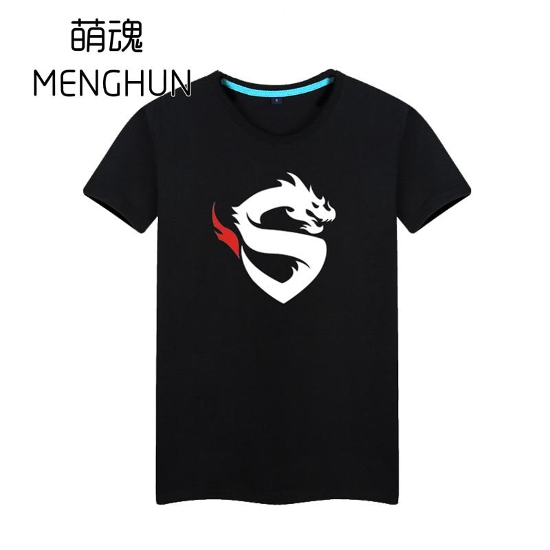 OW equipo profesional Shanghai Dragons icono impresión ventiladores camisetas OW camisetas cool game fans regalo ac1514