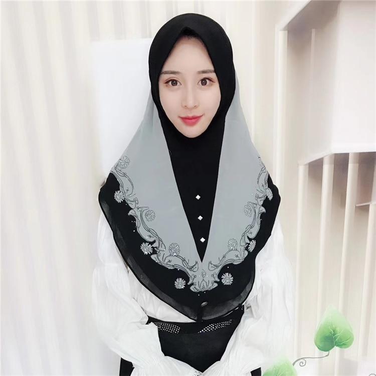 Hijab Scarf  High Quality Women Fashion 2018 Winter Scarves Chiffon Malaysia Islamic Warp Headband