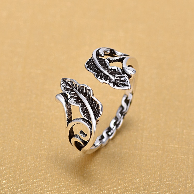2018 New Arrivals Retro 925 Sterling Silver Open Rings for Women Ring Fashion Jewelry