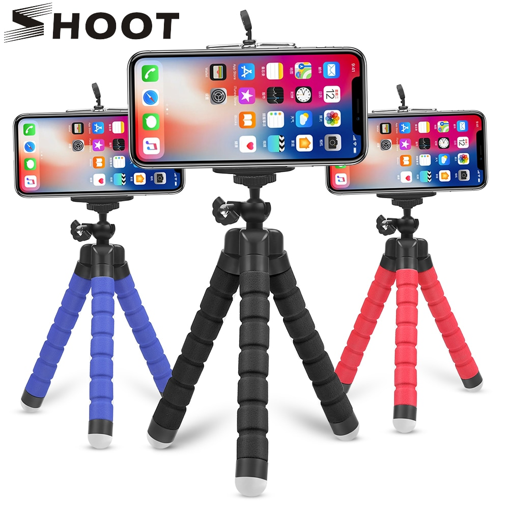 SHOOT Mini Flexible Sponge Octopus Tripod for iPhone Samsung Xiaomi Huawei Mobile Phone Smartphone T