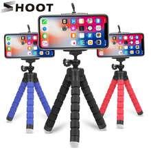 Съемка Мини Гибкий губка Осьминог штатив для iPhone Samsung Xiaomi Huawei Мобильный телефон Смартфон Штатив для Gopro 9 8 7 камера