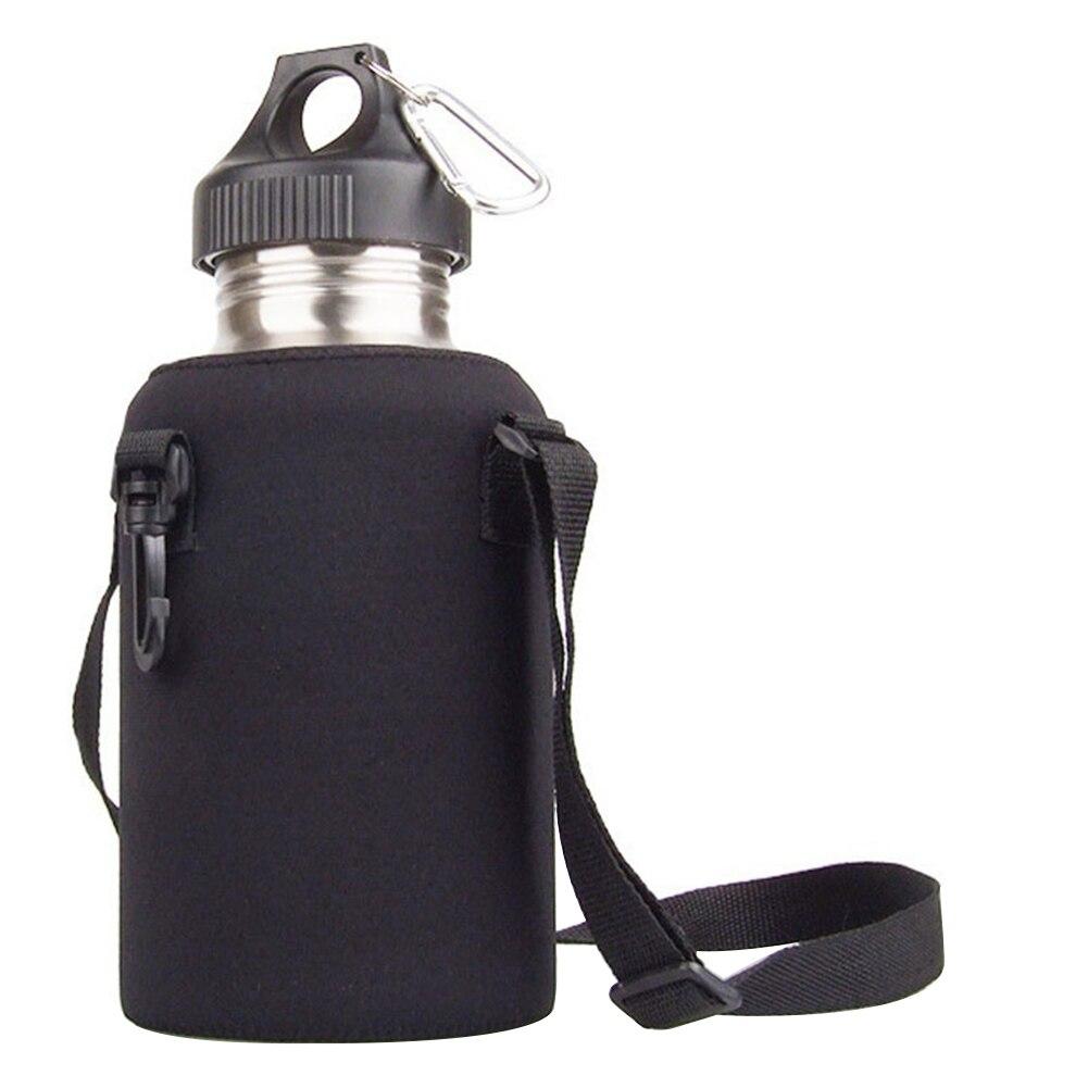 2L/2000 ミリリットル旅行ステンレス鋼茶水ボトルキャリアマグ断熱バッグホルダー