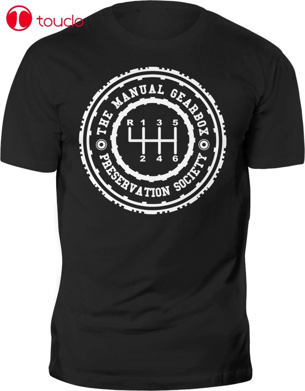 Nueva camiseta para hombre, divertida camiseta de preservación de caja de cambios Manual de coche, camiseta de la sociedad con impresión personalizada, camiseta, suéter