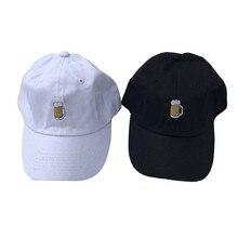 Пивная вышивка, хлопковые шляпы для папы, модная кепка, регулируемая бейсбольная кепка Touca, мужская и женская кепка в стиле хип-хоп, головные уборы mannen pet vinta