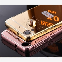 Luxe Placage Armure En Aluminium Cadre En Métal + Miroir Acrylique Pour HTC Desire 826 816 820 830 626 630 530 718 M10 M9 E9