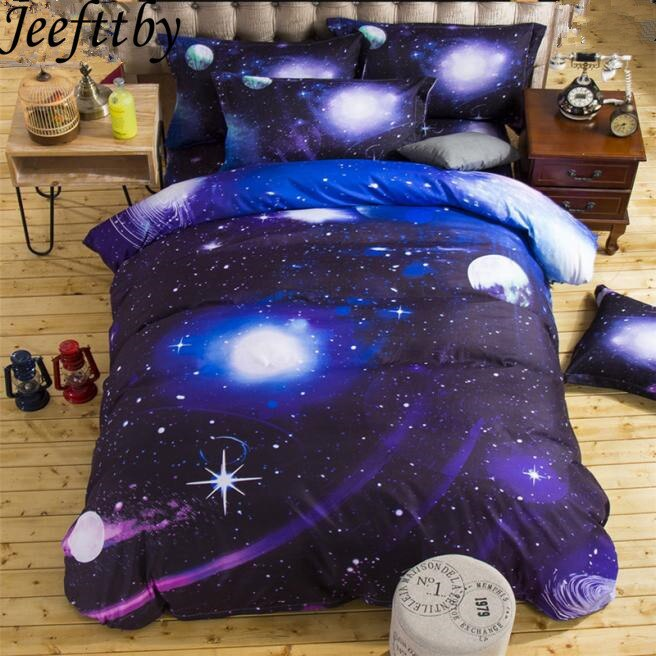 3d Home Milky Way Starry Sky Pattern Bedding Sets Single Double Twin/Queen 2/3/4pcs Bedclothes Bed Linen  Duvet Cover Pillowcase