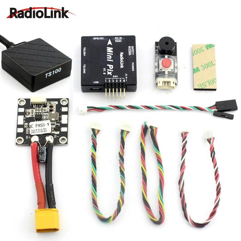 Radiolink MINI PIX F4 Pixhawk grundlegende konfiguration flight controller TS100 M8N 8N GPS Modell für RC Drone FPV Quadcopter