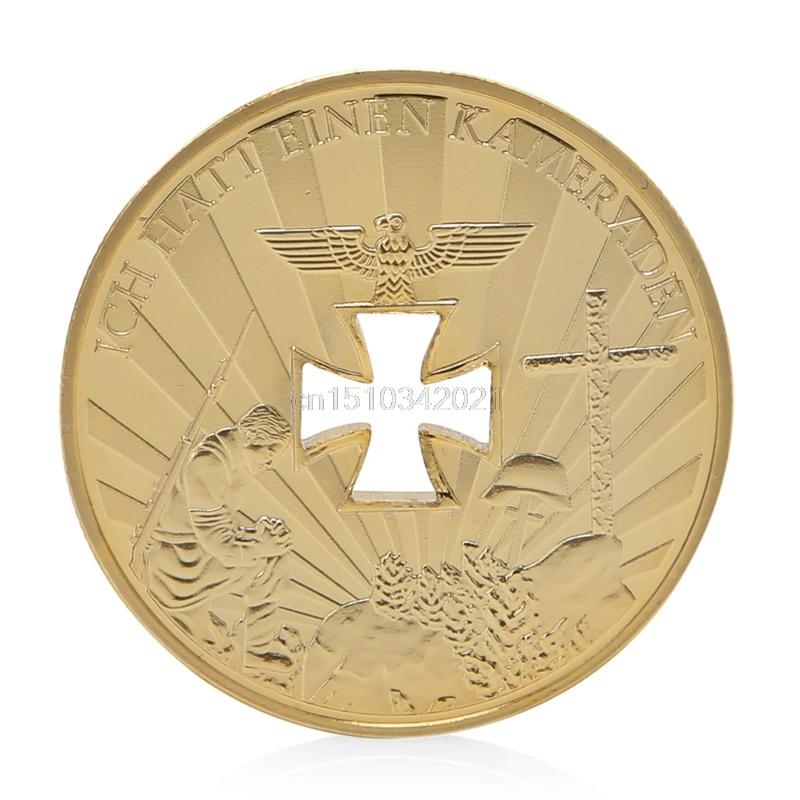 Коллекционная монета 1914-1945, с золотым покрытием