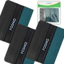 FOSHIO 3pcs Carbon Fiber Vinyl Zuigmond Auto Gereedschap Geen Kras Suede Vilt Wikkelen Schraper Sticker Film Wrap Auto Venster tint Tool