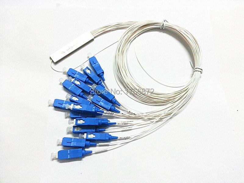 1X16 PLC الفاصل 0.9 مللي متر فضفاض الصلب أنبوب 1x16 البسيطة الألياف البصرية PLC الفاصل
