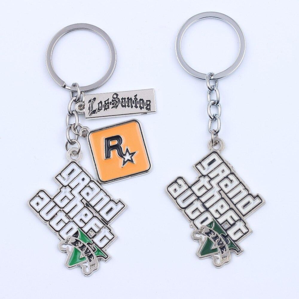 Feimeng jewelry PS4 GTA 5 игровой брелок Grand Theft Auto 5 брелок для фанатов Xbox PC Rockstar брелок держатель 4,5 см Llaveros