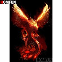 "HOMFUN Full Square/Round Drill 5D DIY Diamond Painting ""Phoenix Bird"" Embroidery Cross Stitch 5D Home Decor Gift A07633"